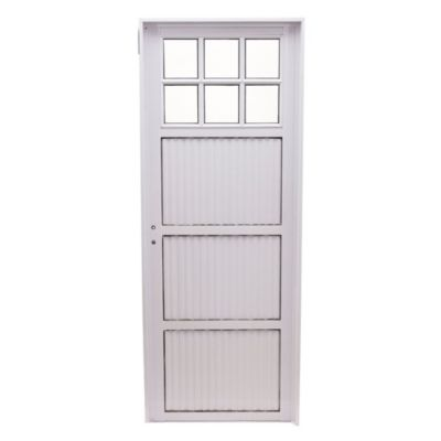 puerta de aluminio frente vidrio x c