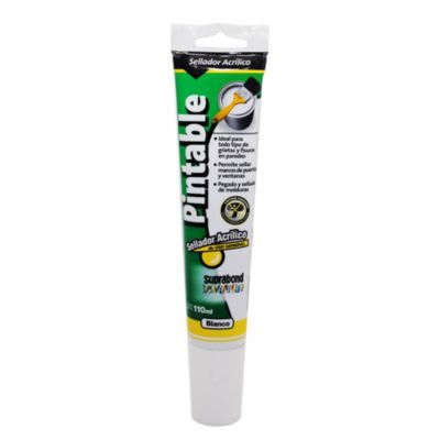 Sellador acrílico pintable blanco 110 ml