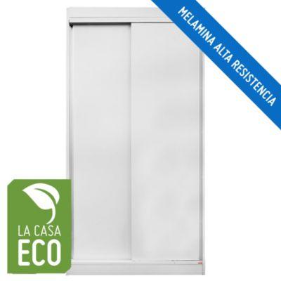 Placard 2 puertas corredizas blanco
