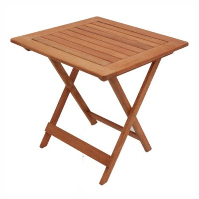 Mesa de exterior Arandú plegable de madera de eucaliptus natural