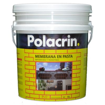 Membrana en pasta para techos blanco 10 l