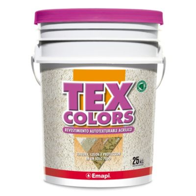 Revestimientos texturado colors athenas tiza 25 kg