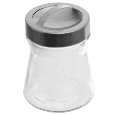 Frasco de vidrio básico liso chico