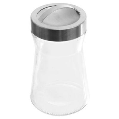 Frasco de vidrio básico liso mediano