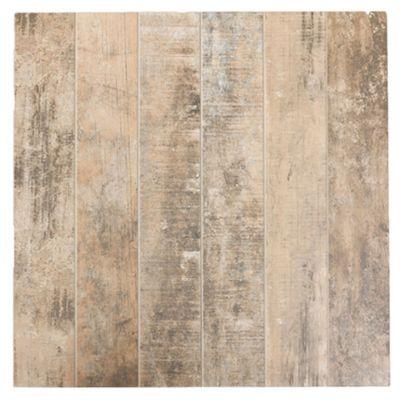 Porcelanato brillante 57.5 x 57.5 imitación madera patinada 1.32 m2