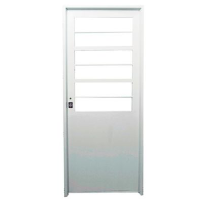 Puerta de chapa doble 70 x 200 x 9,8 cm derecha