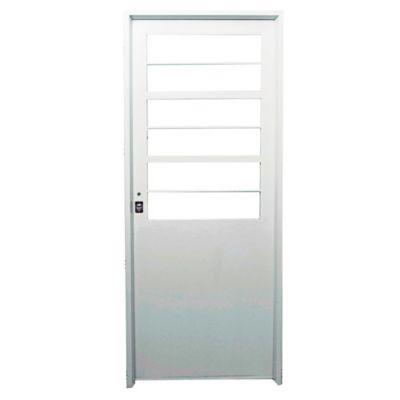 Puerta de chapa doble 80 x 200 x 9,8 cm derecha