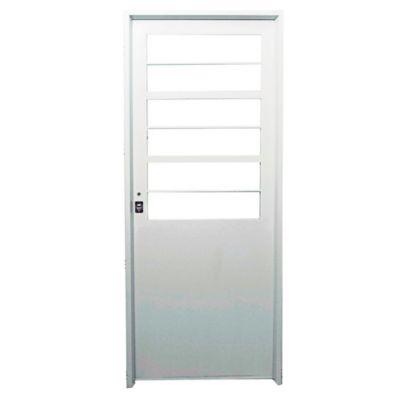 Puerta de chapa doble 140 x 200 x 9,8 cm derecha