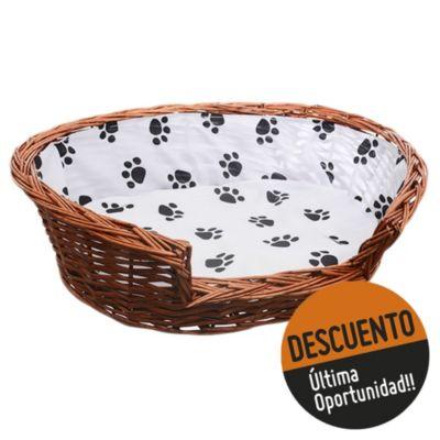 Cama para perro 64 x 18 cm de mimbre