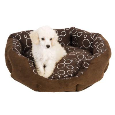 Cama para perro chocolate l