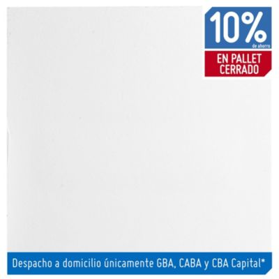 Baldosa autoadhesiva 30 x 30 cm lisa blanca 4.19 m²