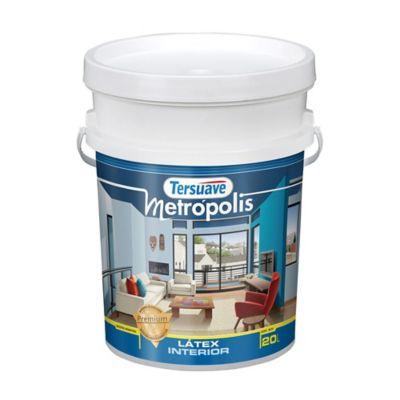 Pintura látex interior mate premium Metrópolis blanco 20 l