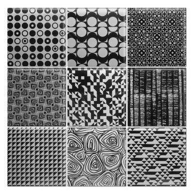 Malla mosaico graphic black