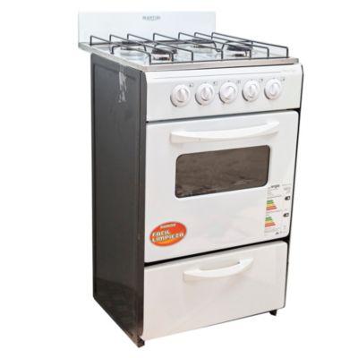 Cocina a gas 50 cm 4 hornallas blanca for Cocinas 8 hornallas