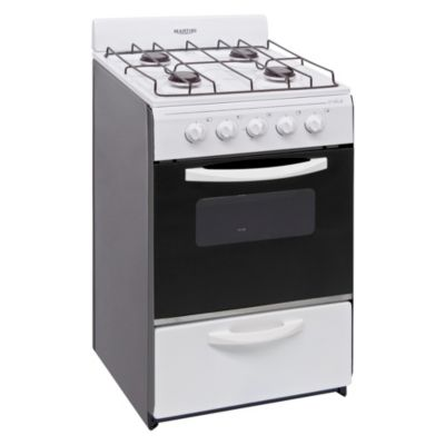Cocina a gas blanca 4 hornallas 51 cm