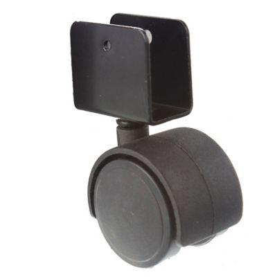 Rueda para mueble 40 mm con base u 19 mm