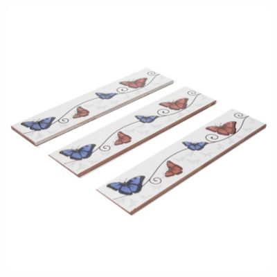 Guarda mariposa azul 6.7 x 31.5 cm
