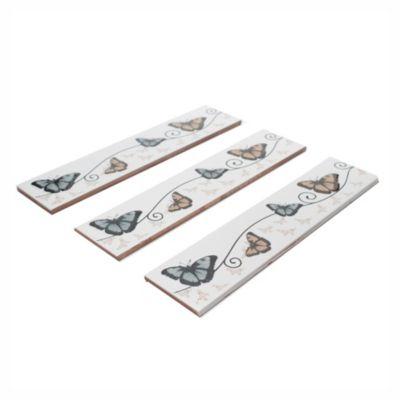 Guarda mariposa beige 6.7 x 31.5 cm