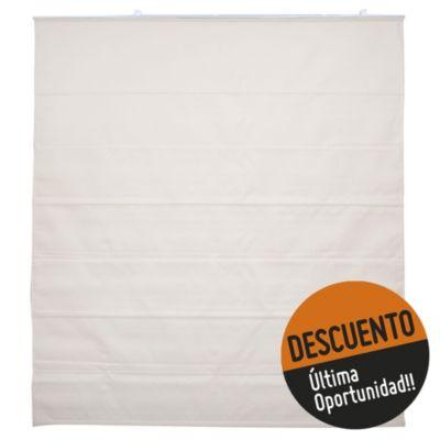 Cortina blackout romana crudo 150 x 165 cm