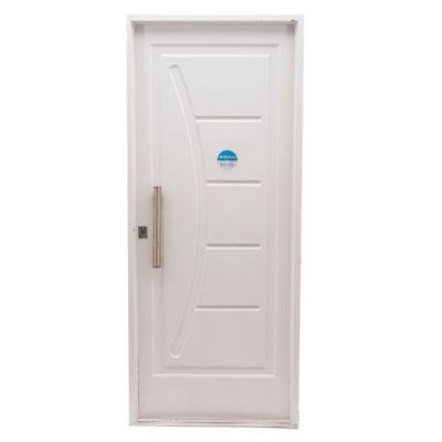Puerta inyectada recta y curva 80 x 200 cm derecha