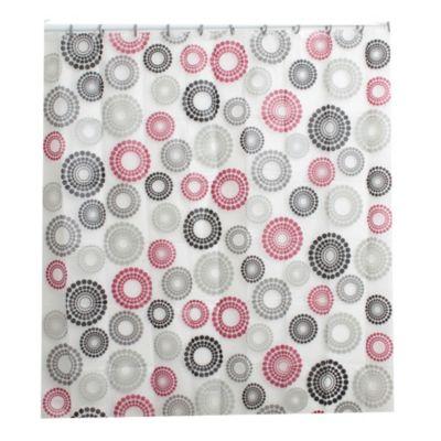 Cortina de baño con diseño espirales rojo 178 x 180 cm