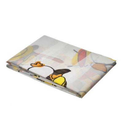 Cortina de baño con diseño pingüinos 178 x 180 cm
