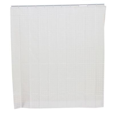 Cortina de baño con diseño cuadrados blanco 178 x 180 cm