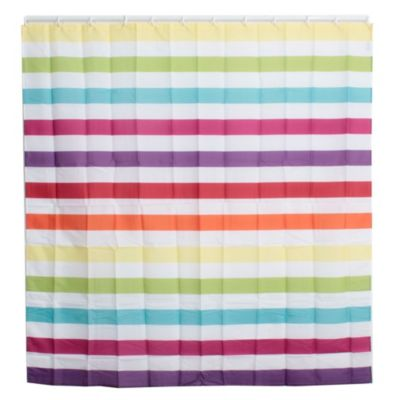 Cortina de baño rayas horizontales 178 x 180 cm