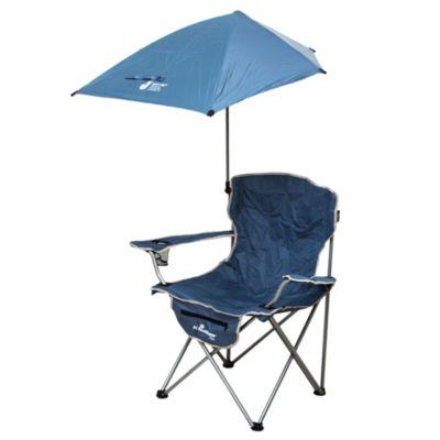 Silla de camping o playa con sombrilla navy upf