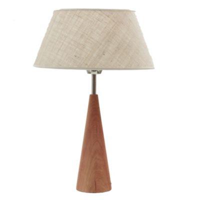 Lámpara de mesa una luz tela arpillera e27