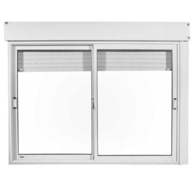 Ventana de aluminio blanca con cajón 150 x 110 cm