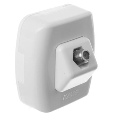 Caja superficie toma caTV pin fino blanca