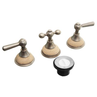 Canilla combinada para bidet Rock Perlado Travertino