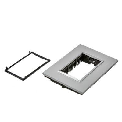 Frente + bastidor aluminio 3 módulos natural