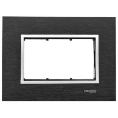 Frente + bastidor aluminio 3 módulos black