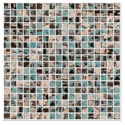 Malla mosaico espadachín aqua