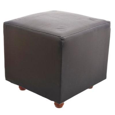 Puff reforzado 42 x 42 cm negro