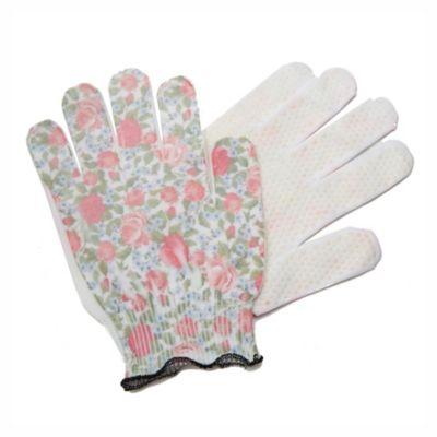 Par de guantes floreado moteado