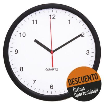 Reloj de pared 25 x 3.8 cm fondo blanco
