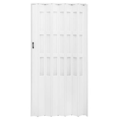 Puerta plegable blanco con vidrio 75 x 200 cm d...