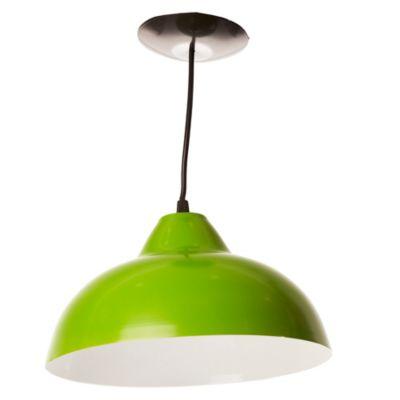 Lámpara de techo colgante 30 cm una luz verde e27