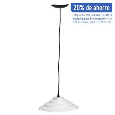 Lámpara de techo colgante 27 cm una luz eco blanco e27