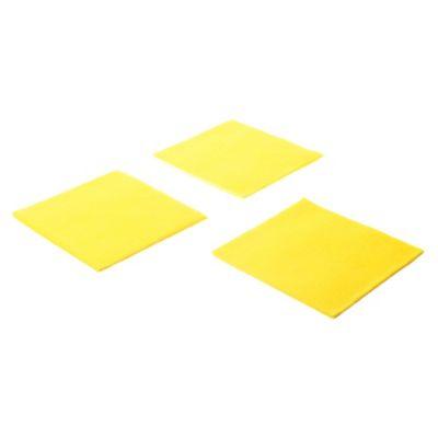 Paño multiuso amarillo por 3 u 38 x 40 cm