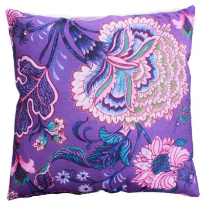 Almohadón flor violeta 45 x 45 cm