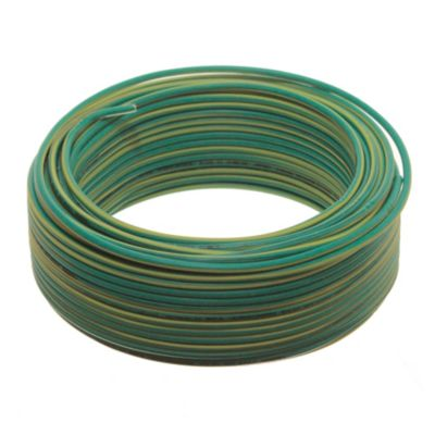 Cable unipolar 1.5 mm2 verde y amarillo 30 m