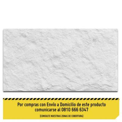 Revestimiento de piedra roca blanco 19 x 39 cm