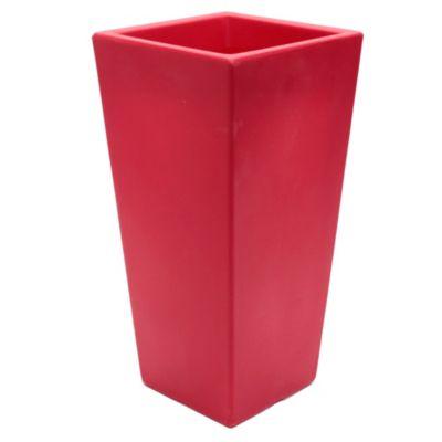 Maceta piramidal 55 cm roja
