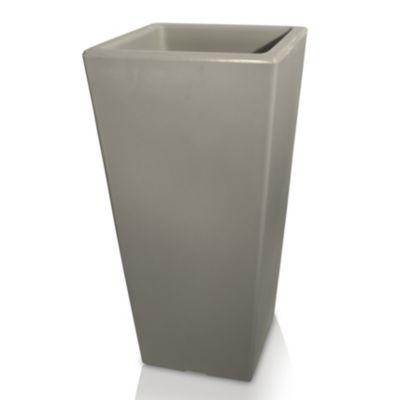 Maceta piramidal gris