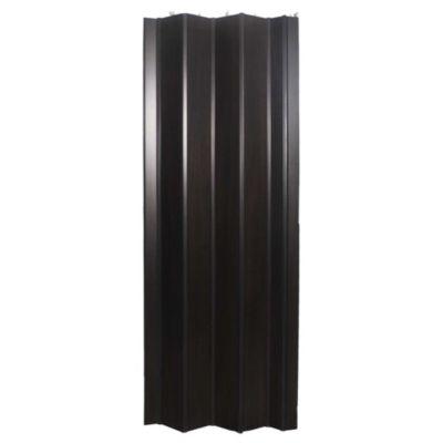 Puerta plegable simil wengue 80 x 200 cm derech...