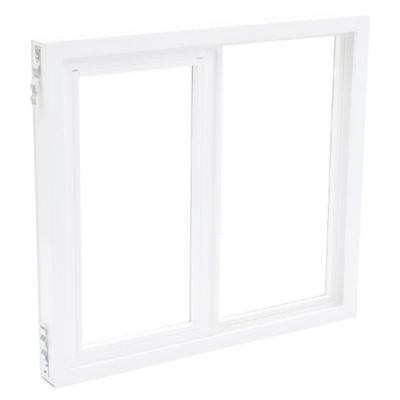 Ventana de PVC corrediza blanca 100 x 90 x 9 cm